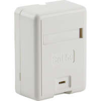 Excel Category 5e Plus Surface Mount Box - 1 Port - White