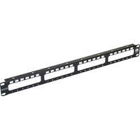 Excel Plus Modular Patch Panel Frame - 4-way, Unloaded - Black