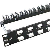Excel Unloaded Keystone Patch Panel Frame -...