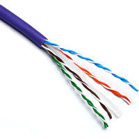 Excel Solid Cat6 Cable U/UTP 24AWG LSOH CPR Dca 305m Box Violet