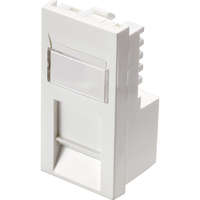 Excel Category 6 (UTP) Office Unscreened Low Profile Euromod RJ45 Module - White