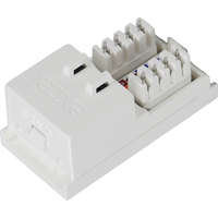 Excel Category 6 (UTP) Unscreened Low Profile Euromod RJ45 Module - White