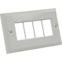 Excel 6c White Double Gang Bevelled Plate...