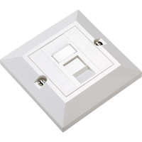 Excel Category 6 Unscreened Single RJ45 White Module c/w Single gang bevelled plate and blanks