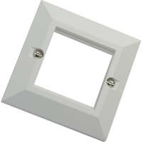 Excel White Single Gang Bevelled Plate without...