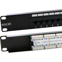 Excel Category 5e Unscreened Patch Panel -...