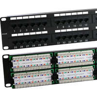 Excel Category 5e Unscreened Patch Panel - 48-port, 2U - Black