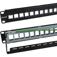 "Excel 10"" Unloaded Keystone Patch Panel Frame -..."