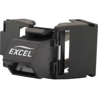 Excel Category 6 UTP Butterfly Style Toolless Angled Jack - Black (24-pack)