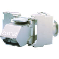 Excel Category 6A (STP) Screened Angled Keystone Toolless Jack Butterfly Style