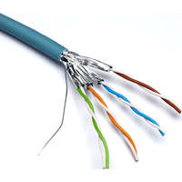 Excel Solid Cat6a Cable U/FTP LSOH CPR Euroclass B2ca 500m Reel Ice Blue