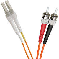 Enbeam OM2 Fibre Optic Patch Lead LC-ST Multimode 50/125 Duplex LS0H Orange 0.5m