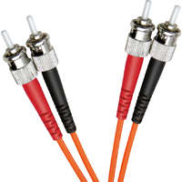 Enbeam OM2 Fibre Optic Patch Lead ST-ST Multimode 50/125 Duplex LS0H Orange 0.5m