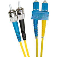 Enbeam OS2 Fibre Optic Patch Lead ST-SC Singlemode 9/125 Duplex LS0H Yellow 1m