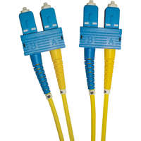 Enbeam OS2 Fibre Optic Patch Lead SC-SC Singlemode 9/125 Duplex LS0H Yellow 0.5m