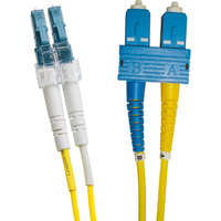 Enbeam OS2 Fibre Optic Patch Lead LC-SC Singlemode 9/125 Duplex LS0H Yellow 0.5m