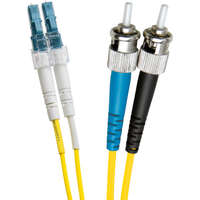 Enbeam OS2 Fibre Optic Patch Lead LC-ST Singlemode 9/125 Duplex LS0H Yellow 0.5m