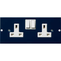 Excel Double Switched Power Socket For 350-603 4-Compartment Floor Box