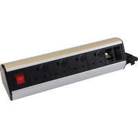 Excel Desktop Power Distribution Unit - 4x UK sockets, 2x 6C aperture