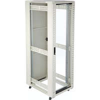 Environ CR600 24U Rack 600x600mm Glass (F) Steel (R) N/Panels No/Mgmt Grey White