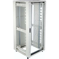Excel Environ CR800 Comms Rack 42U x 800mm wide x 1000mm deep without side panels - Grey White - Flat Pack