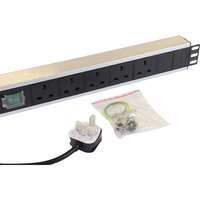 Excel 5-way Horizontal PDU - 5x UK sockets, UK plug