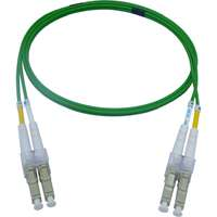 Enbeam OM5 Fibre Optic Patch Lead LC-LC Multimode 50/125 Duplex LS0H Lime Green 0.5m