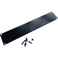 "Excel 3U 19"" Horizontal Snap-in Blank Panel - Black"