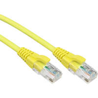 Excel Category 5e Patch Lead U/UTP Unshielded LS0H Blade Booted 0.5m - Yellow (10-pack)