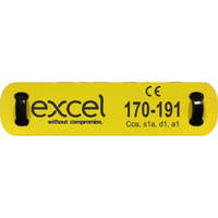 Excel Loom Label 10X50mm White/Black