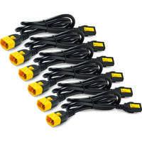 Power Cord Kit (6 ea), Locking, C13 to C14, 0.6m