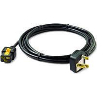 APC Power Cord, Locking C19 to BS1363A (UK), 3.0m