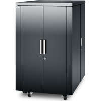 NetShelter CX 24U Secure Soundproof Server Room in a Box Enclosure - Shock Packaging - Dark Grey