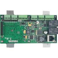 Single Door Interface Module w/PoE with 2 reader: mag/wiegand, 4 inputs and 2 relays (Mercury Part Number: MR51e)