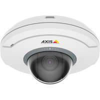 Ceiling-mount mini PTZ dome camera with 5x Optical zoom and autofocusing.