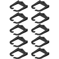 D-Rings for 8U Rack; 10 Rings; Black