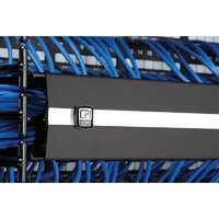 Evolution Horizontal Cable Manager without Cable Pass-Through Ports - Glacier White