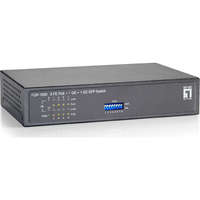 10-Port Fast Ethernet PoE Switch, 1 x Gigabit RJ45, 1 x Gigabit SFP, 8 PoE Outputs, 120W