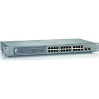 26-Port Fast Ethernet PoE Switch, 2 x Gigabit SFP/RJ45 Combo, 802.3at/af PoE, 24 PoE Outputs, 240W