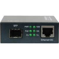 RJ45 to SFP Gigabit Media Converter, PoE PSE