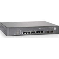 10-Port Gigabit PoE Switch, 802.3at/af PoE, 2 x SFP, 8 PoE Outputs, 150W