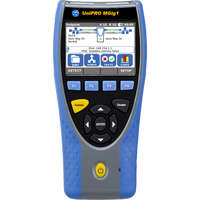 Gigabit Ethernet Multistream Bidirectional transmission tester with dual Copper and Optical Ports.