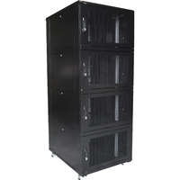 Environ CL800 42U Co-Location Rack 800x1000mm (4 Compartments) Vented (F) Vented (R) B/Panels B/Central-Mgmt Black - F/Pack