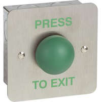 FLUSH HEAVY DUTY S/STEEL EXIT BUTTON -Green DOME