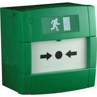 KAC MCP Green RESETTABLE CALL POINT-Single POLE