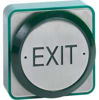 Weatherproof surface mount 85mm green exit button