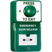 Dual Unit Exit Button/Call Point Green Dome