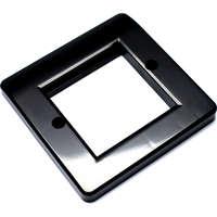 aura 2x Euro Module Wall Plate Black Plastic single gang 100-270BK