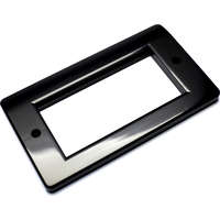 aura 4x Euro Module Wall Plate Black Plastic double gang 100-271BK